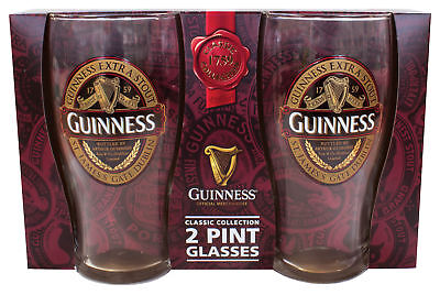 Guinness 2017 Ruby Red Collection 2 Pint Glass Pack