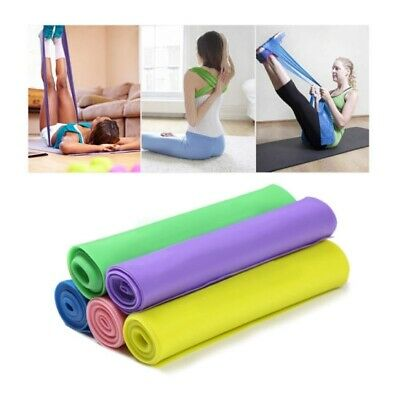 Elastic Resistance Bands Yoga Exercise Gym NHS Pilates Stretch Straps Physio XMB