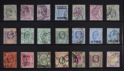 BRITISH COLONIES, a collection of over 235 stamps, KEVII era, used.