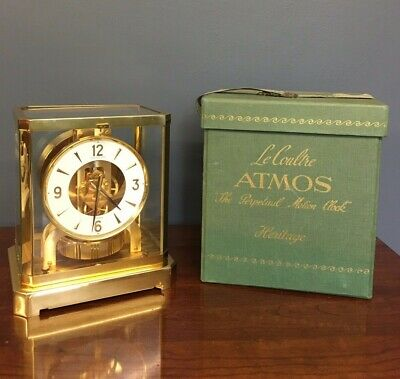 Jaeger Le Coultre Atmos Clock Swiss Made Working With Box