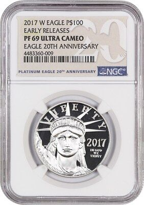 2017-W Platinum Eagle NGC PR 69 UCAM (Early Releases)