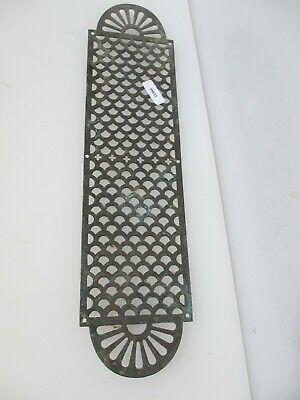 Victorian Brass Pierced Finger Plate Push Door Handle Gothic Antique Vintage Old