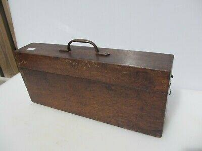 Vintage Wooden Box Tub Crate Brass Catch Latch Antique Storage Old Wood