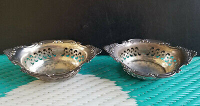 Vintage 925 Sterling Silver A4780 Wallace 2pc Salt or Nut Dishes 1.70 G