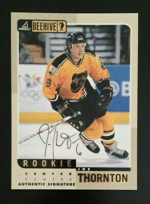 1997 98 Bap Pinnacle Joe Thornton On Card Rookie Autograph Auto Rc