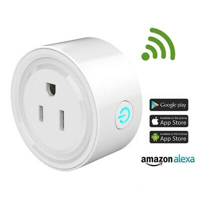 Smart Plug Work with Alexa Google Home WiFi Outlet Mini Socket Remote Control