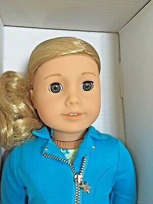 "American Girl Truly Me #78 WAVY BLOND Hair LT Skin GREEN Eyes 18"" Doll NIB"