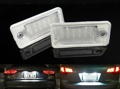 2x LED Licence Number Plate Light White Canbus Audi A3 S3 A4 S4 A5 A6 RS6 A8 Q7