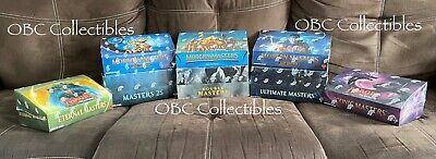 Masters Series ALL 7 Sealed Booster Box Lot Modern Eternal Iconic Ultimate