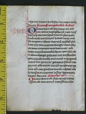 Rare dated liturgical paper Manuscript in vernacular,deco.Initials,done in 1501