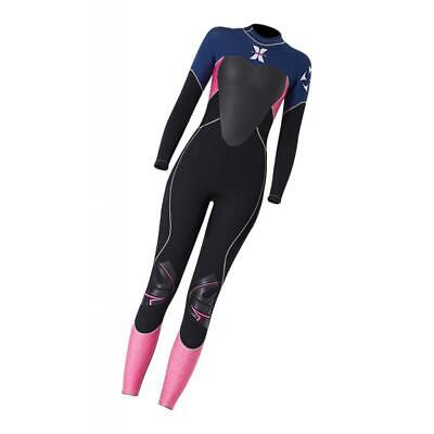Smooth Women Diving Wetsuit Long Sleeve&Leg Back Zip for Surfing Snorkeling