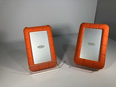 Lacie Rugged Hard Drives Lot Of 2 - 1 x 4TB USB 3.0, 1 x 2TB USB 3.0 Thunderbolt