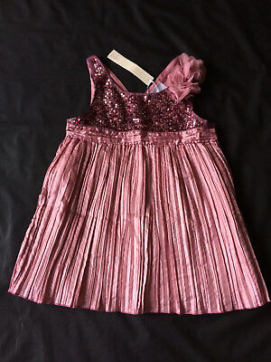 Bnwt Girls Next Sequin Sparkly Rose Pink Top Age 12 Years Rrp £20