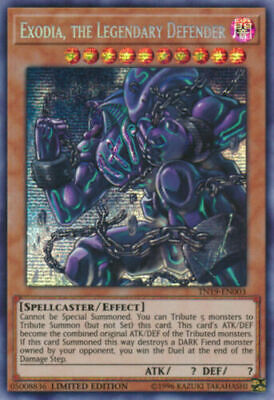 *** Exodia The Legendary Defender *** Prismatic Secret Tn19-En003 Yugioh!