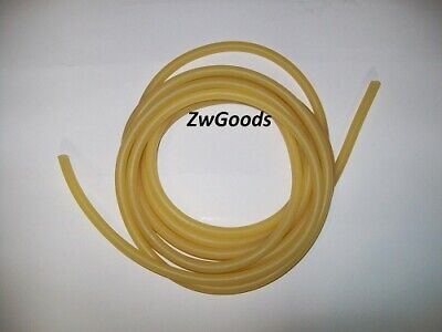 """15 Continuous Feet 3/16"""" ID x 1/16 w x 5/16 OD Natural Latex Rubber Tubing Amber"""
