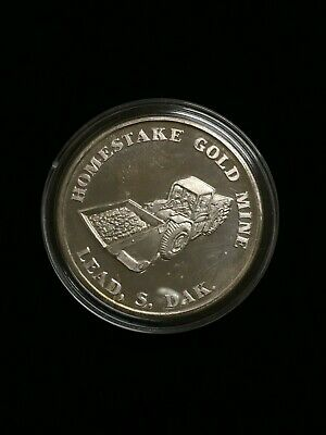 Homestake Gold Mine 1984 1oz silver round (RARE)