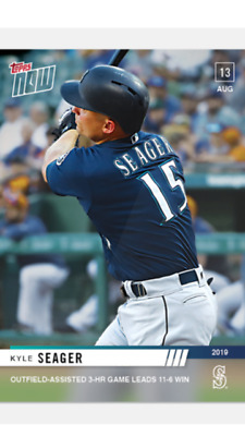2019 Topps Now Card Seattle Mariners Kyle Seager #678 3-Hr Game Leads To Win