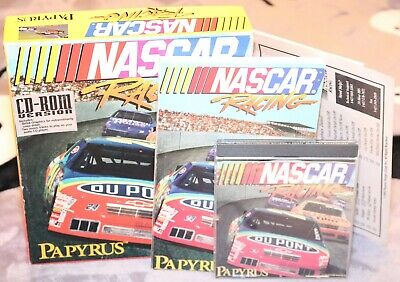 ❤️Vintage 1994 Nascar Racing Papyrus Car Race CD-ROM Game Complete w/ Box❤️