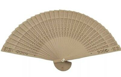 60 Pc Natural Wood Hand Chinese Wooden Fans Vintage  Wedding Party Favors  BULK