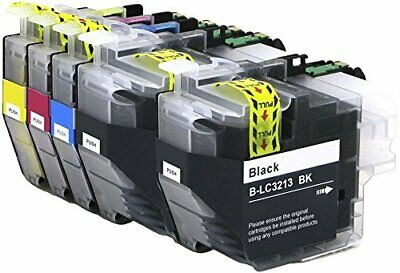 Pack 5 Brother Lc3213Bk Cartucho Compatible Con Brother Lc-3213Xl Lc-3211Xl