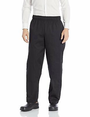 Chef Works Black Mens Pants US 4XL Stretch Essential Baggy Drawstring $34 #404