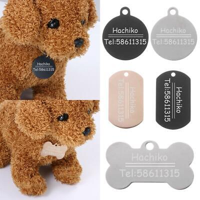 Dog ID Tag  Name Tag Nameplate No Noise Pet Cat Collar Tags Stainless Steel