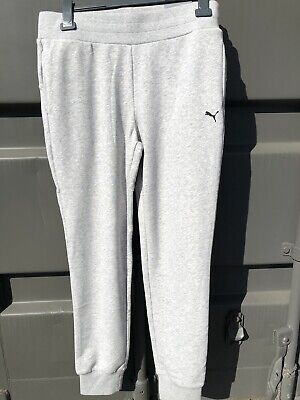 Ladies Puma Essential Sweat Tracksuit Pants, Trac Track Wear With Logo