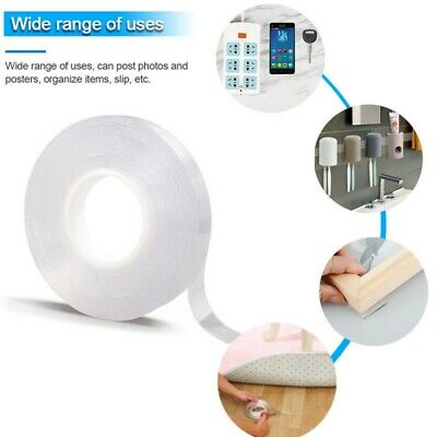 Double-Sided Clear Multifunction Traceless Nano Tape Washable Adhesive Gel US