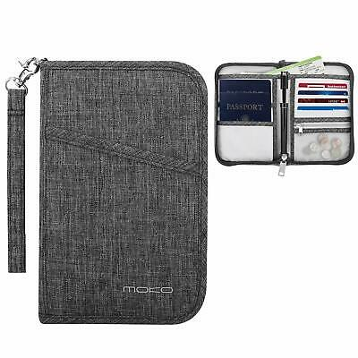 MoKo Travel Wallet Passport Holder Cover RFID Blocking Document Organizer Case