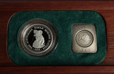 Australia: 1998 $50 ½oz Platinum Koala Proof, RARE ONLY 337 SOLD. Original Box