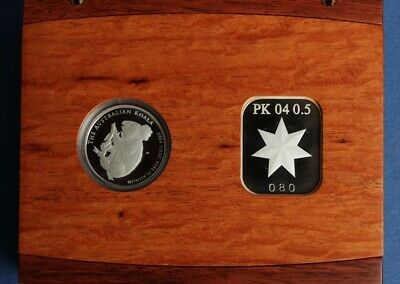 Australia: 2005 $50 ½oz Platinum Koala Proof, RARE ONLY 97 SOLD  Original Case.