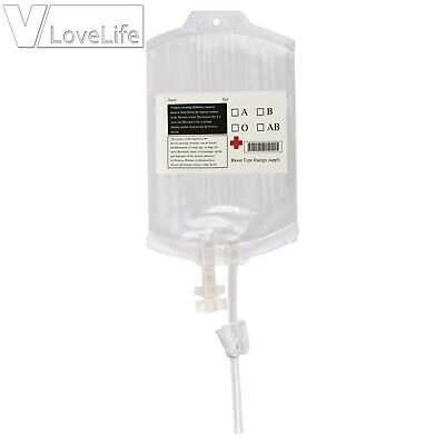Juice Jam Blood Bags For Drinks Reusable IV Blood Bags With Party Decor Syringe