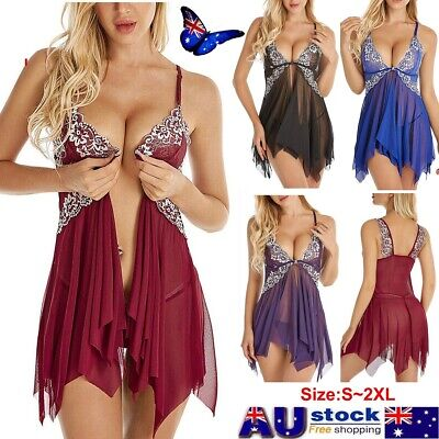 PLUS SIZE Women Lingerie Ladies Sexy Babydoll G-String Nightwear Sleepwear Dress