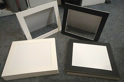 Bulk Picture Mounts 12x10 To Suit 10x8 Photo Black And White mounting photograph
