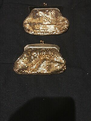 Vintage Glomesh Gold Coin Purse X 2