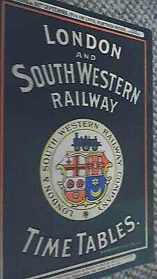 London And South Western Railway Time Tables 7Th June- 30Th Sept 1914 Facsimile
