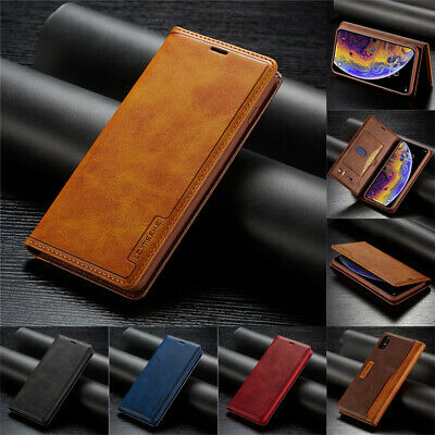 Leather Case For iPhone 11Pro 6 7 8 Plus XR XS Max Flip Magnetic Card Slot Cover
