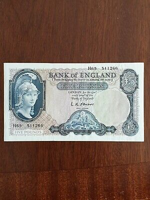 O'Brien Bank Of England £5 Note In Excellent Condition