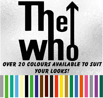 The Who 2 Band Music Sticker Decal For Car Laptop Van Ipod Macbook