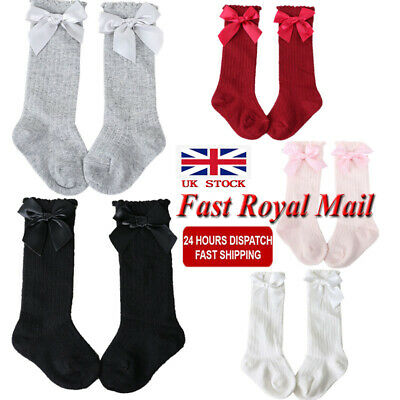 UK Spanish Baby Girls Knee High Socks BOW Romany School Uniform Stockings 0-4 Y