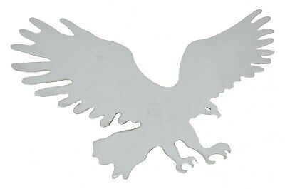 """Cut Out Eagle Medium Beak Facing Right Chrome Welded Stud Mount 7 1/2"""" by 9 1/2"""""""