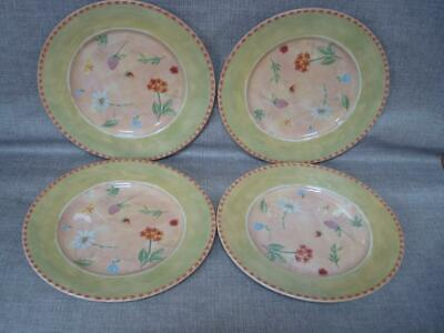 "Royal Stafford Gardeners Journal 11"" Dinner Plates X 4 - Excellent"