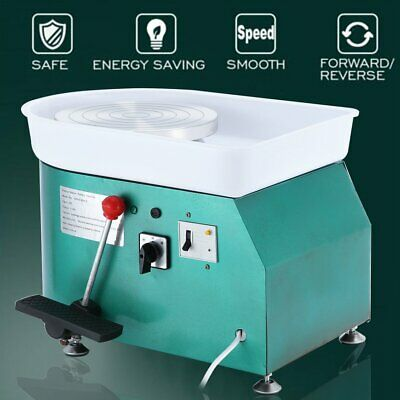 25cm 250W Pottery Wheel Pottery Machine For Ceramic Work Ceramics Clay Foot uA