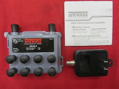 Antronix Ara8-4 Power Cable Amp Signal Booster W Power Supply Amplifier New!!