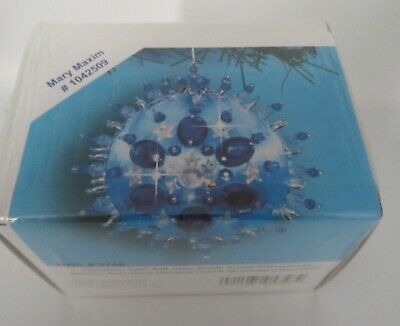 Mary Maxim Christmas Ornament Kit Satin Bead Ornament BLUE # 1042509 NEW