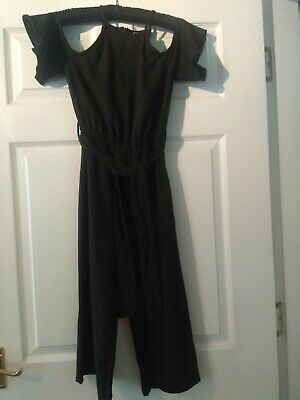 Girls Age 9 yrs Black Sleeveless Trouser Jumpsuit  ~ New Look
