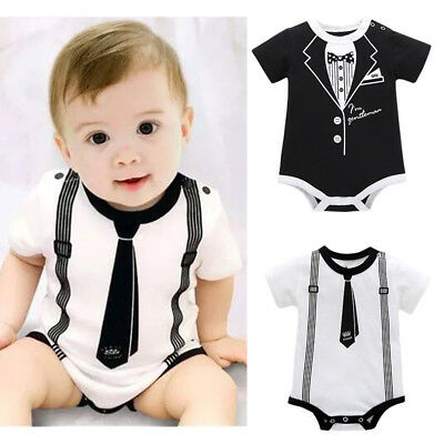 Toddler Infant Kids Baby Boy Clothes Casual Romper Playsuit Jumpsuit Outfit VTP
