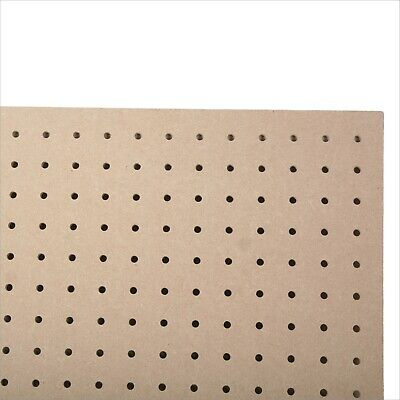 6mm MDF Wood Pegboard 1000MM X 500MM, 6mm holes Wooden Peg Perf Board Sheet