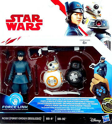 Rose In First Order Disguise, Bb-8 & Bb-9E Im Set Star Wars The Last Jedi Hasbro