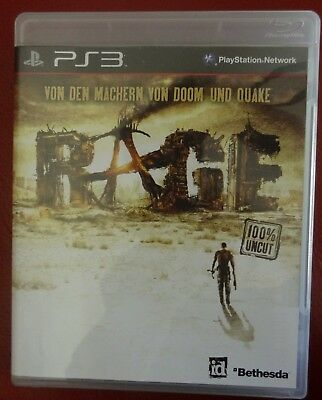 RAGE Anarchy Edition Sony PlayStation 3 Video Spiel 2011 PS3 Game id Bethesda